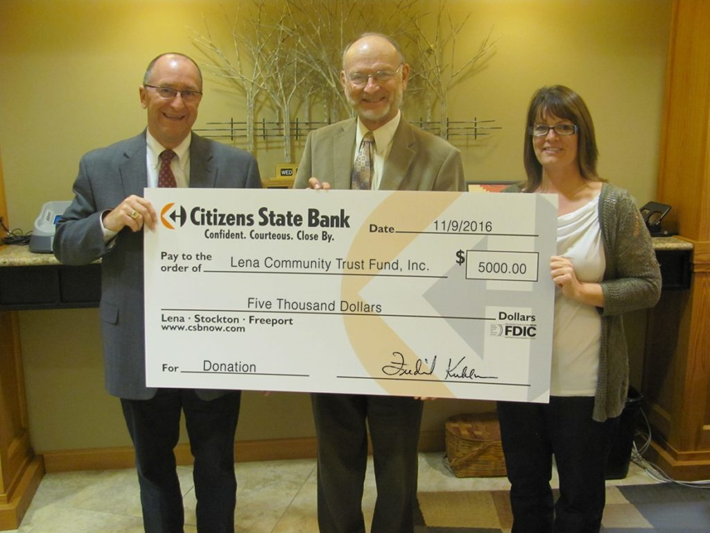 Lena Community Center Donation