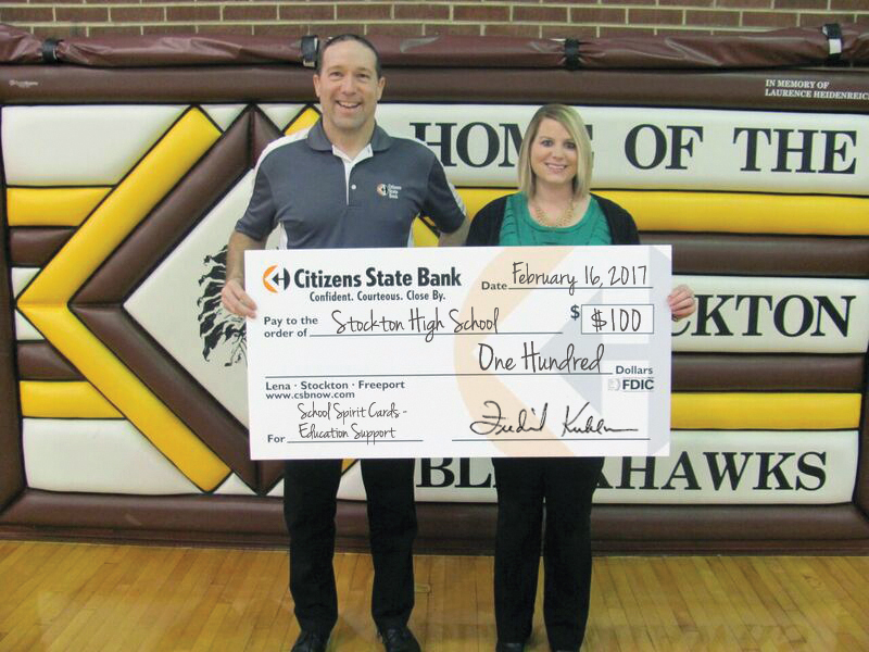 Stockton School Pride Debit Card Donation